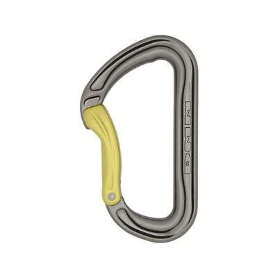 DMM Shadow Straight Gate Silver//Lime Carabiner
