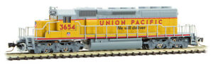 Micro-Trains-MTL-Z-Scale-EMD-SD40-2-Locomotive-Union-Pacific-UP-Gray-Yellow-3654