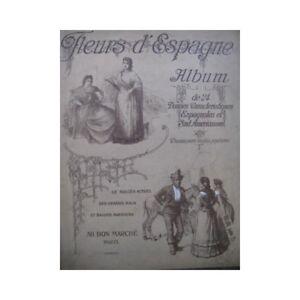 Fleurs-d-039-Espagne-Album-24-Danses-Piano-ca1910-partition-sheet-music-score