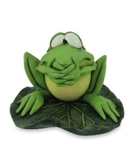 Les Alpes 014 92722 Frosch nicht sprechen 10 cm Kunstharz Dekofigur Frosch Fred