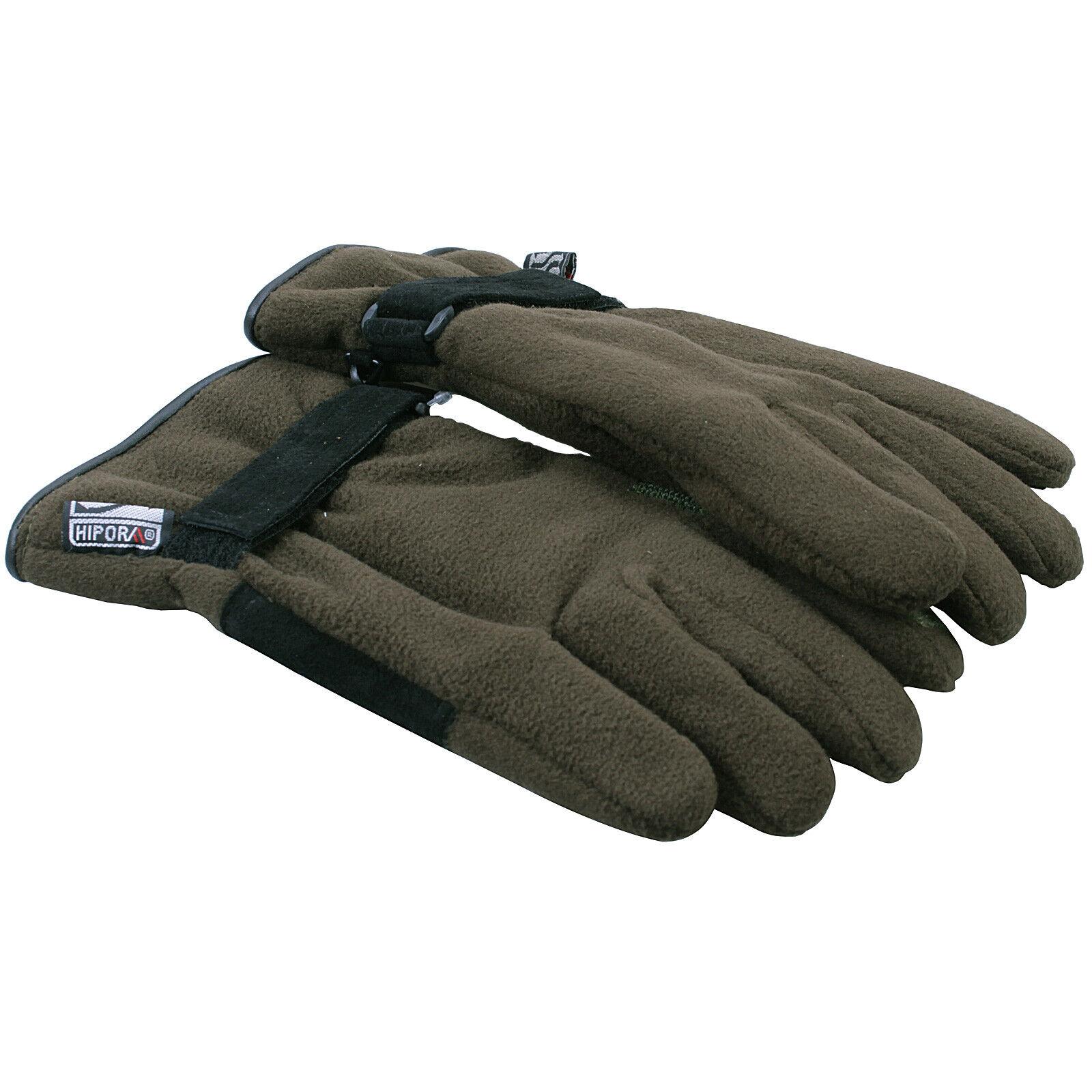 Bisley Stalking Fleece Gloves Green Thermal Mitts Men Women Small Medium Large