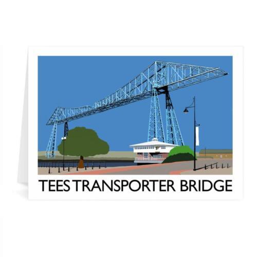 Middlesbrough Tees Transporter Bridge Greetings Card Richard O/'Neill