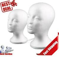 Mannequin Foam Manikin Head Model Wig Glasses Hat Display Styrofoam 2pc Zm