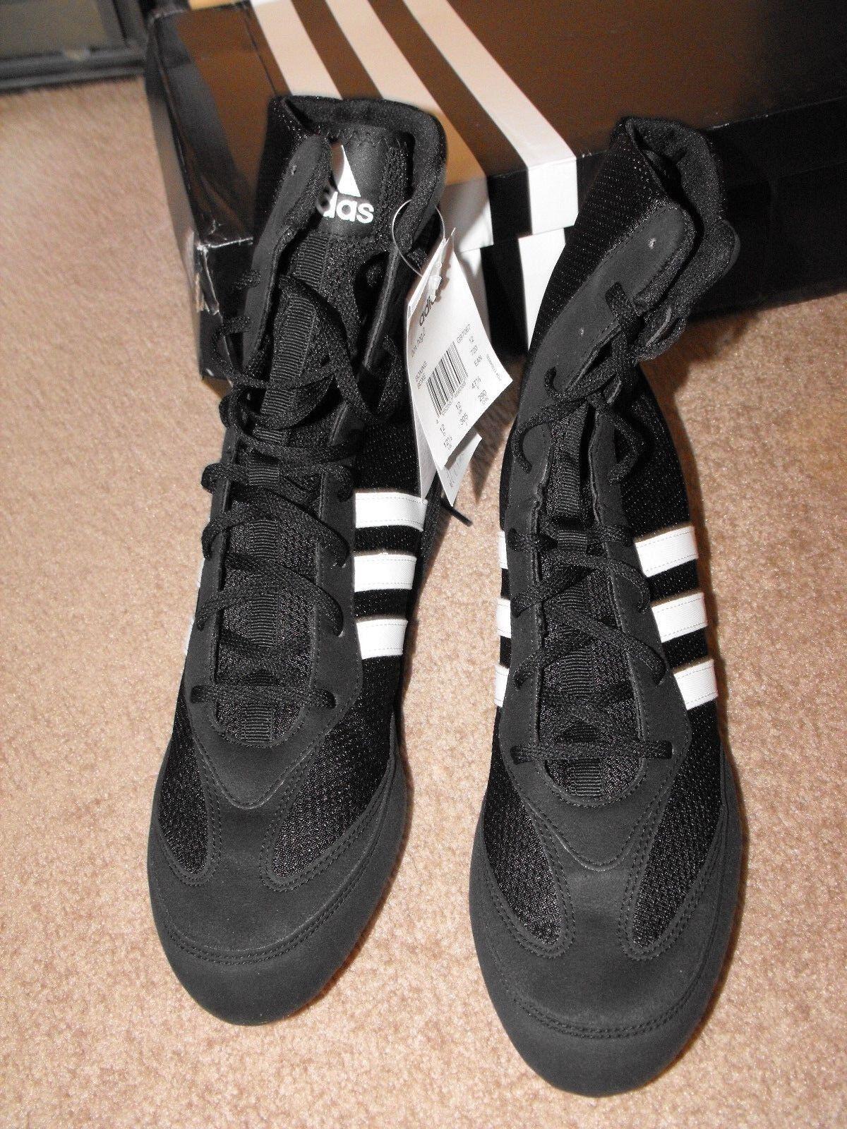 ! Raro! nuevo En Boxing Caja Adidas Boxing En Lucha Libre Negro Zapatos Talla EE. UU. 12 Reino Unido 11 585a3a