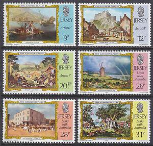 JERSEY-Gomma-integra-non-linguellato-UMM-Stamp-Set-1984-SG-344-349-ARTISTI-5TH-serie-i-collegamenti