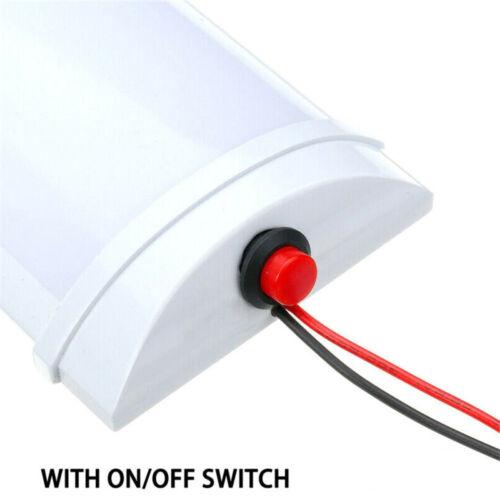 12V LED Interior Luz Domo Superficie Techo Lectura Maletero para Rv Camper Nuevo