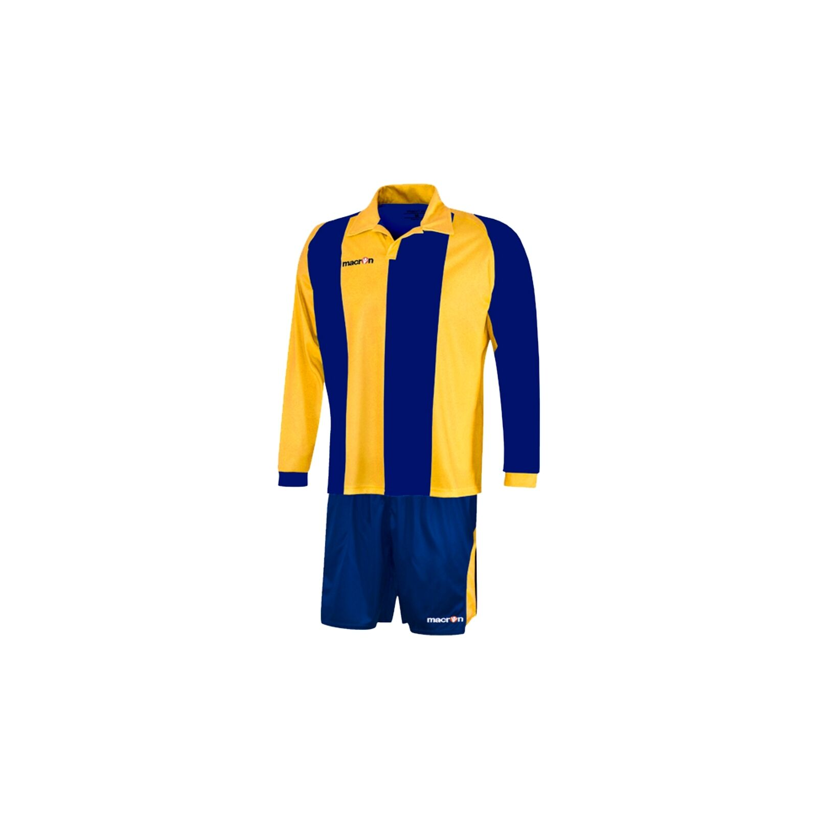 MACRON IVELAND FOOTBALL KIT - LONG SLEEVE - blueE YELLOW - XL