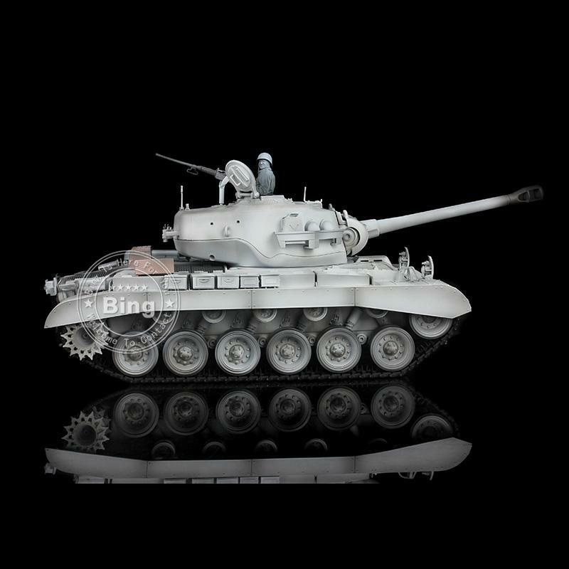 1 16 Scale 2.4G HengLong Winter Snow Plastic Ver Pershing M26 RC RTR Tank 3838