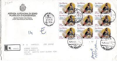 Briefmarken San Marino Honig San Marine 2000 Fdc Aasfn Weihnachten Racc
