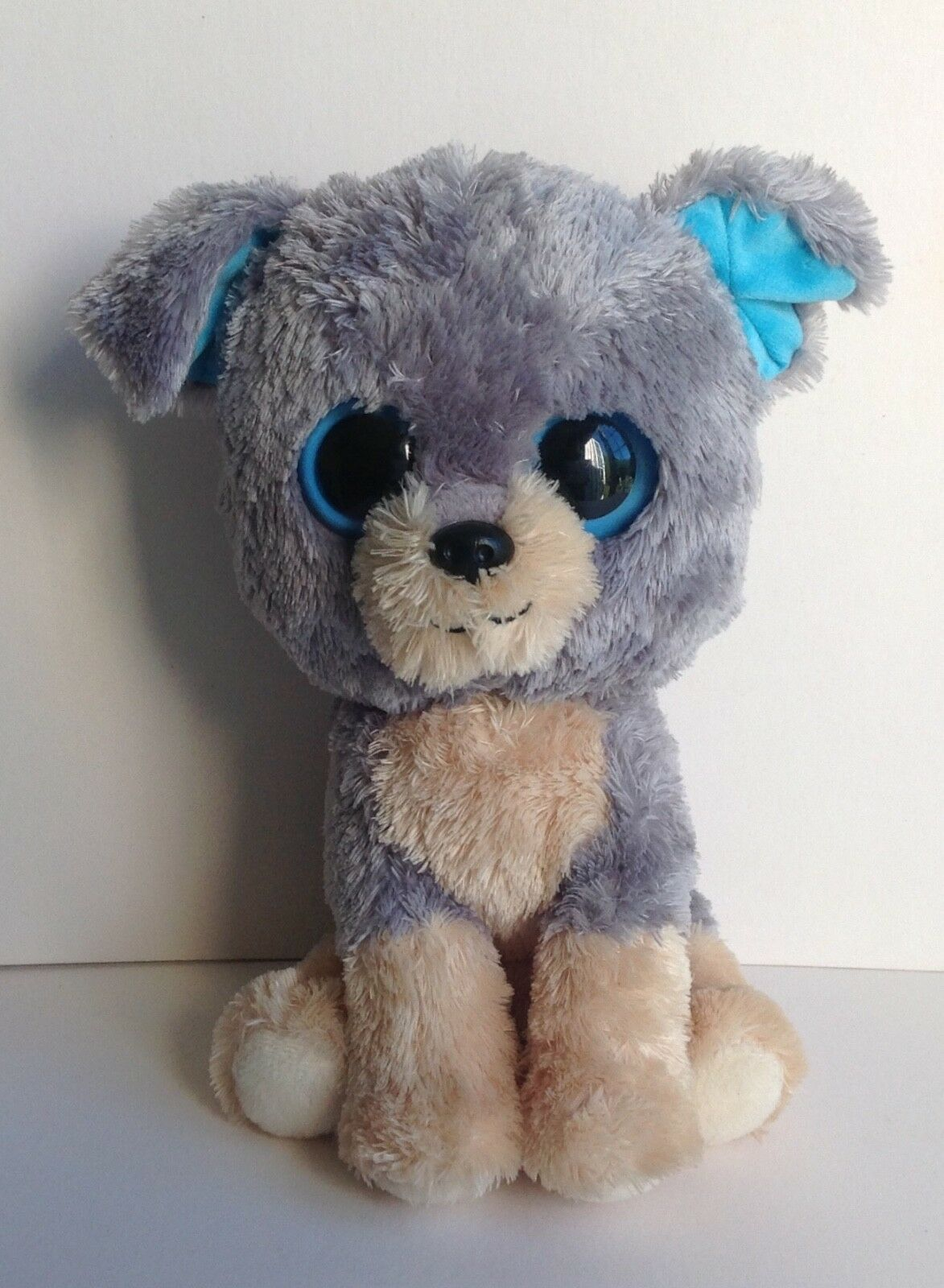 Ty  Scraps  Buddy Dog Beanie Boo Toy 21.5 cm Grey Beige 7136910 Purple Tag RARE
