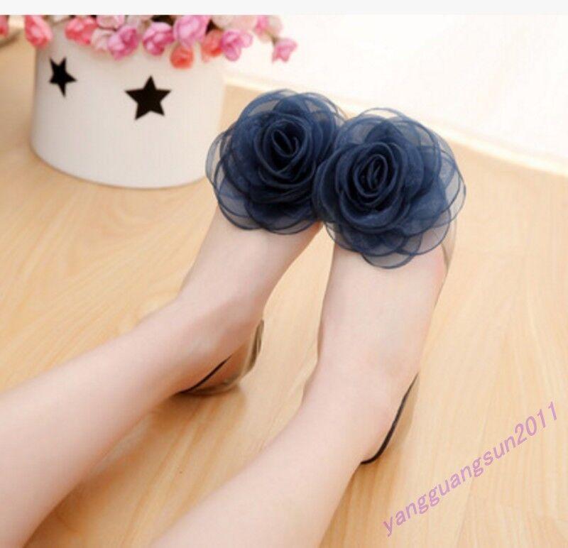 New Fashion Women Shoes Sandals Jelly Flower Open Toe Slip Slip Toe On Casual Beach Flats 9d10a0