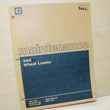 Cat Caterpillar 966c Wheel Loader Maintenance Manual Guide Book Front End Owner