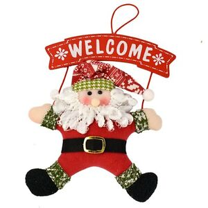 Ebay Christmas Baubles.Details About Welcome Christmas Decorations Santa Claus Door Hanging Home Xmas Ornaments