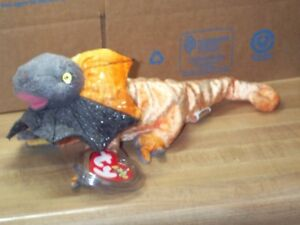 7e3d127dab0 TY Beanie Baby Babies Slayer Frilled Dragon Lizard 9-26-2000 retired ...
