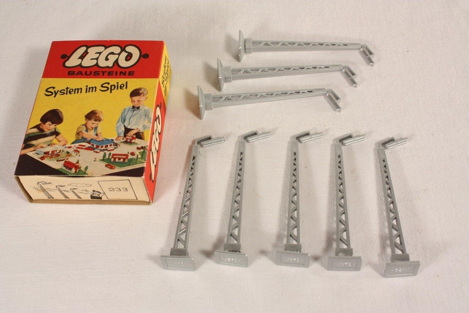 Lego 233, Bausteine, 8 x Straßenlampen, Top im Originalkarton              ab548