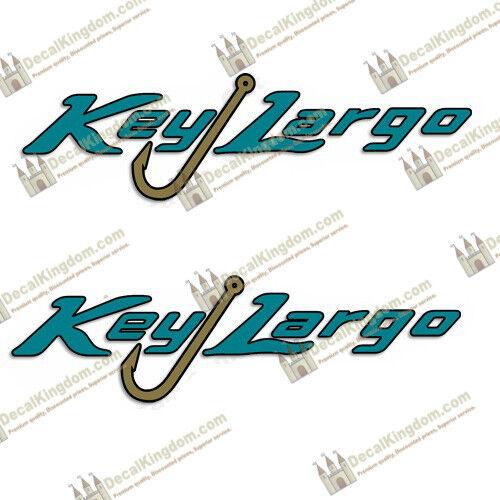 Key Largo Logo Boat Decals (Set of 2)