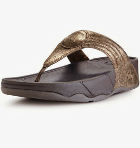 bfe6faa8785aa Image is loading NEW-FitFlop-Walkstar-3-Crackle-Sandals-Bronze-Women-