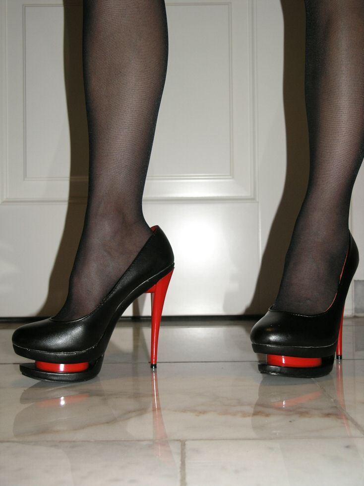 Sexy Plateau Kunst Leder High-Heels 13 Rot-Schwarz 36 Stiletto Absatz 13 High-Heels cm 51205b