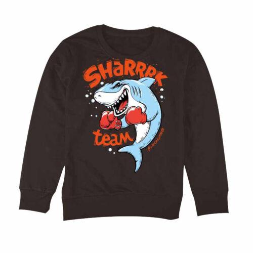 shark letters iron-on diy t-shirt clothing heat transfer sticker patch wash Fdd
