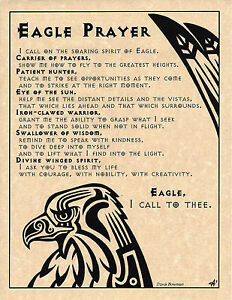 Details about EAGLE PRAYER Shaman Animal Spirit Poster Page Art Native  American Celtic Wicca