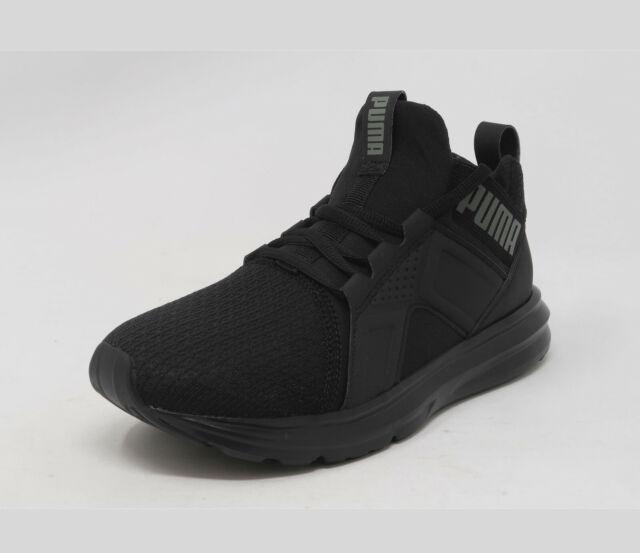 PUMA Enzo Jr Black Slip On Fashion Kid Sneakers Youth Shoes