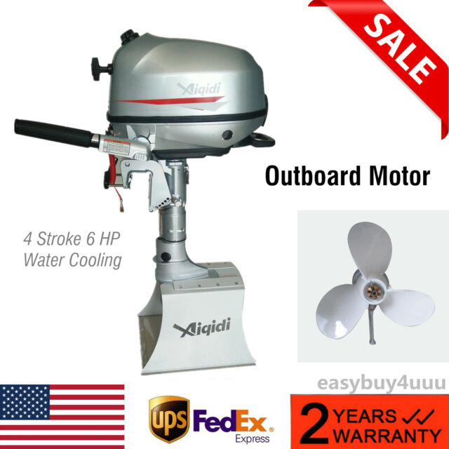 4Stroke 6HP 123CC Outboard Motor Boat Engine Water Cooling CDI System 40cm  Shaft