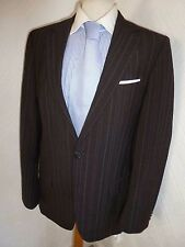 MENS HUGO BOSS RED ACHTO HAGONI SUMMER BROWN WOOL SUIT JACKET 36 WAIST 30 LEG 34