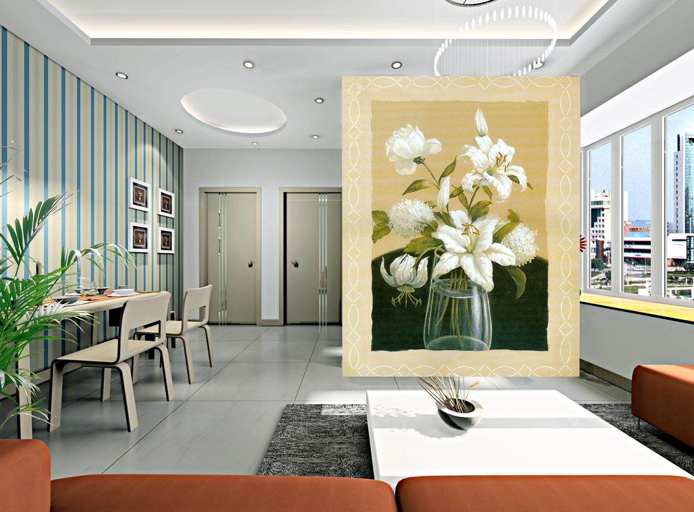 3D White Petal 56 Wallpaper Murals Wall Print Wall Mural AJ WALLPAPER UK Jenny