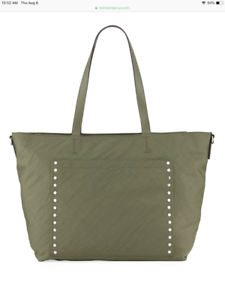 Details About Nwt Rebecca Minkoff 295 Logan Nylon Baby Tote Diaper Bag Olive