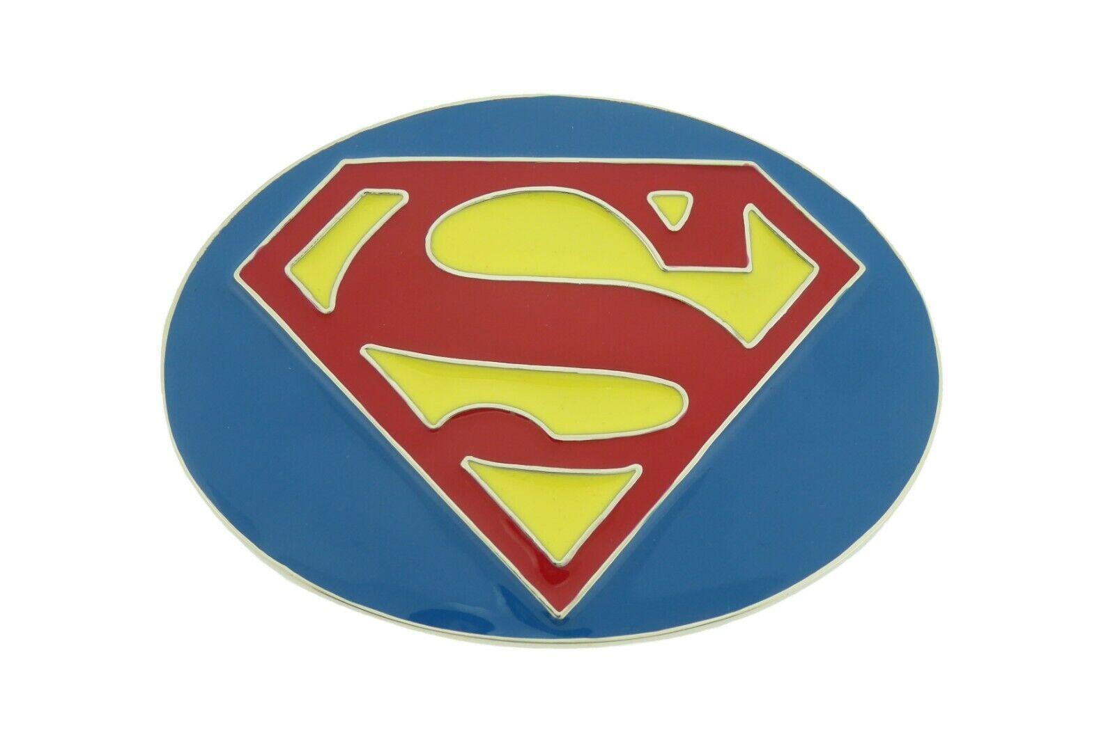 Superman Gürtelschnalle Original Offiziell Lizenziert DC Comics Superheld Metall
