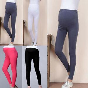 Women-Maternity-Plus-High-Waist-Pants-Trousers-Pregnant-Summer-Solid-Leggings-CR