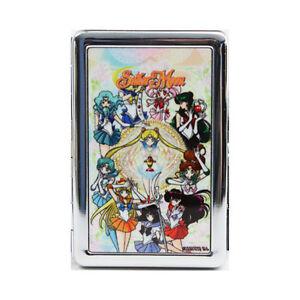 Sailor moon group metal business card holder anime manga new ebay image is loading sailor moon group metal business card holder anime colourmoves Images