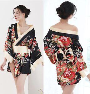Acheter Pas Cher Vestito Costume Completino Fiori Ciliegio Kimono Giapponese Cosplay Vestaglia