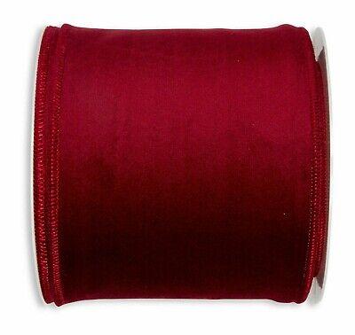 Berisfords Ribbon 50 mm Bourgogne Velvet-Per METRE