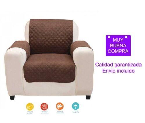 Protector de sillón 70 cm Reversible Marrón//Beige Houseware Lavable en lavadora