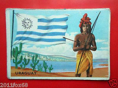 Figurines Cromos Cards Figurine Sidam Gli Stati Del Mondo 56 Uruguay Flags Flag Strong Packing Sticker Albums, Packs & Spares