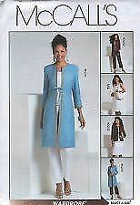 McCalls-Sewing-Pattern-5115-Misses-jacket-Pants-Skirt-Coat-Top-Size-6-12
