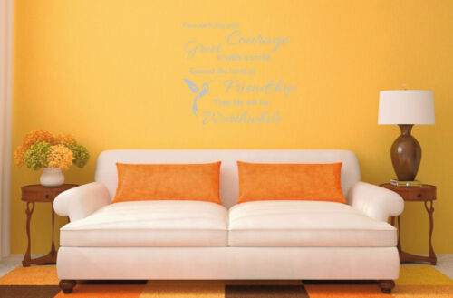Friendship Courage Inspirational Life Quote Vinyl Wall Art Room Sticker Decal