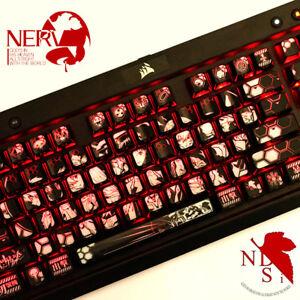 Details about EVA Anime NEON GENESIS EVANGELION Backlit keycaps 104keys  full set for mx switch