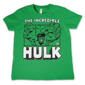 Officially Licensed The Incredible Hulk Unisex Kids T-Shirt Ages 3-12 Years