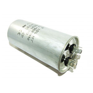 METAL ROUND RUN CAPACITOR 45µF AIR COMPRESSOR 45UF 400-500V 4 TERMINALS
