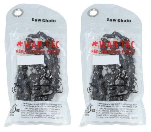 """14/"""" WAR TEC Tronçonneuse Chaînes Pack de 2 convient draper CS1500 CS1800 CSP4545"""