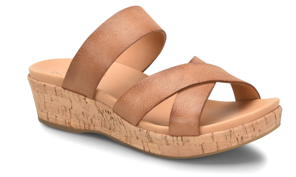 NIB Kork-Ease Women's Camellia Sandal In Brown