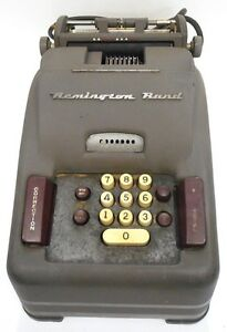 Precisa adding machine antique 102-1 rare vintage works hermes.