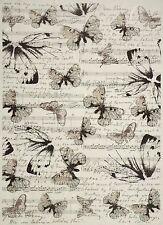 Rice Paper Black Butterflies for Decoupage Decopatch Scrapbook Craft Sheet
