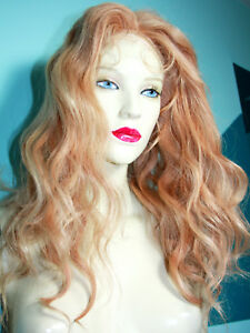 Blonde-Mix-613-27-Curly-Wavy-Glueless-Lace-Wig-Indian-Human-Hair-Remi-Remy