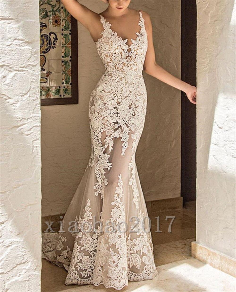 Meerjungfrau Hochzeitskleid Spitze Sexy V-ausschnitt Benutzerdefinierte Größe    | Elegantes und robustes Menü  | Economy  | Hervorragende Eigenschaften  7b37fd