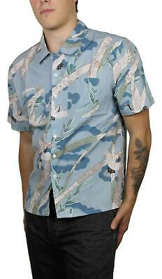 Clothing, Shoes & Accessories Intellective Brixton Mens Lovitz Ii Woven S/s Button Up Blue Stone S New