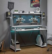 55home Office Gaming Desk Large Pc Gamer Table Withmonitor Shelfampstorage Shelves