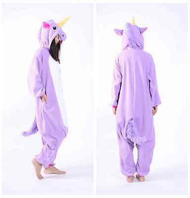 Hot -New- Adult Unisex Animal Onesie Costume Unicorn Pony -Kigurumi- Pajamas *